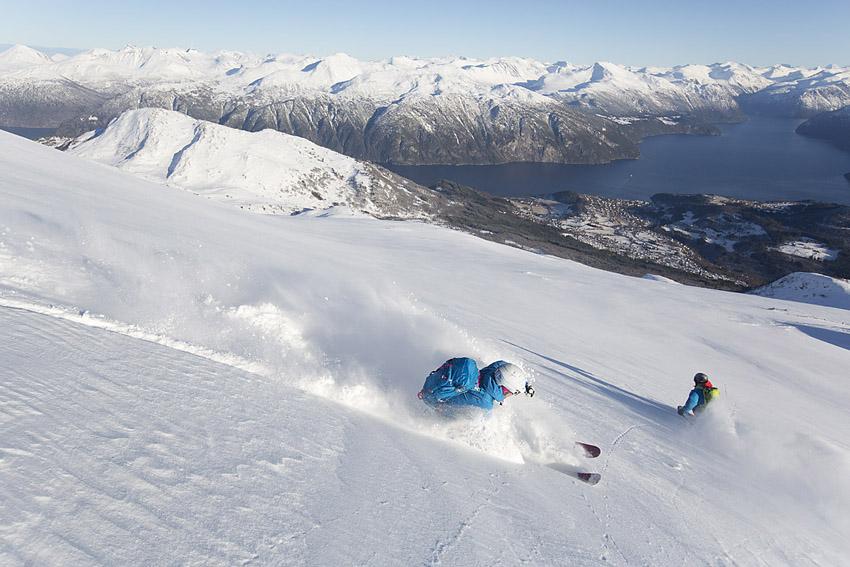 Blåfjellet ger 400 meter uppför och 1400 nerför.