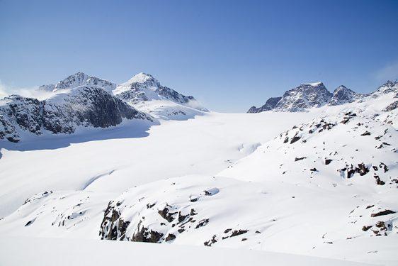 Anmarsch till glaciären