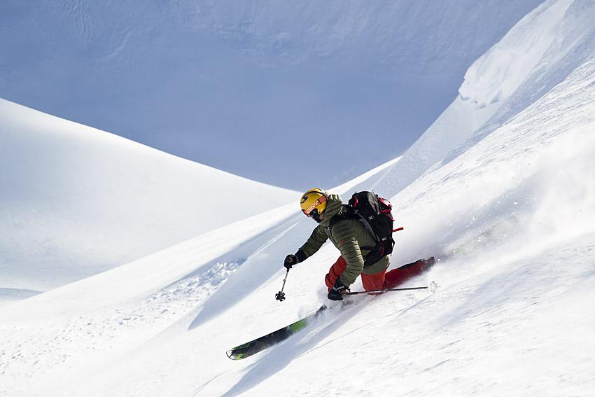 Det är inga problem att hitta ospårad snö på Sogndalseggi.