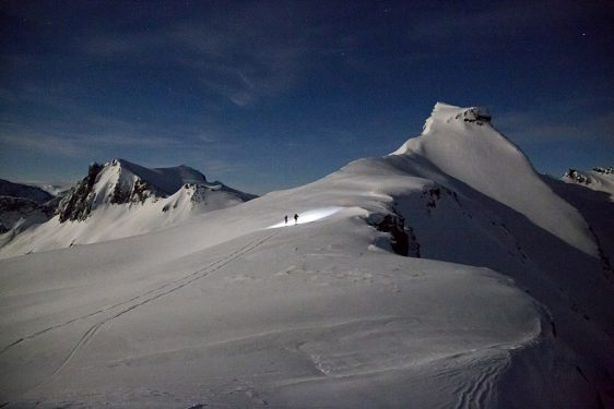 Reindalstinden, upp via Ronsfjellet