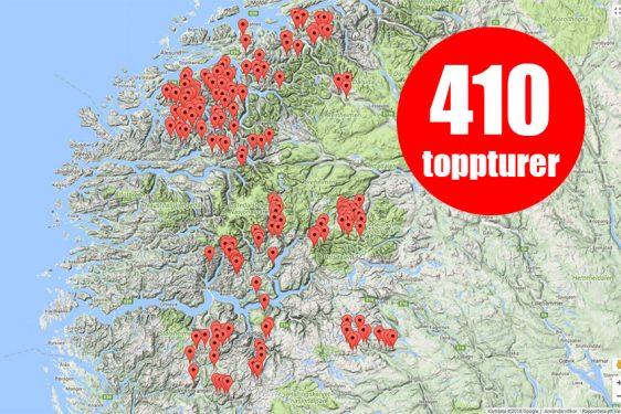 Nu har Snösäker beskrivningar till 410 skandinaviska toppturer!