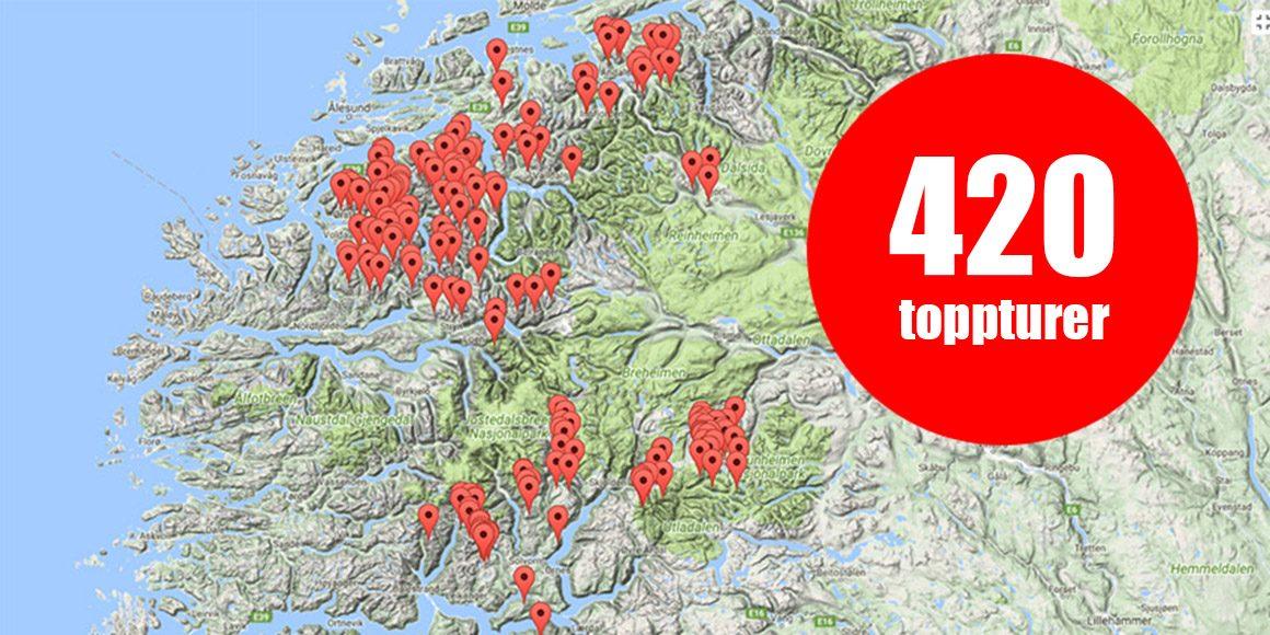 Nu har Snösäker beskrivningar till 420 skandinaviska toppturer!