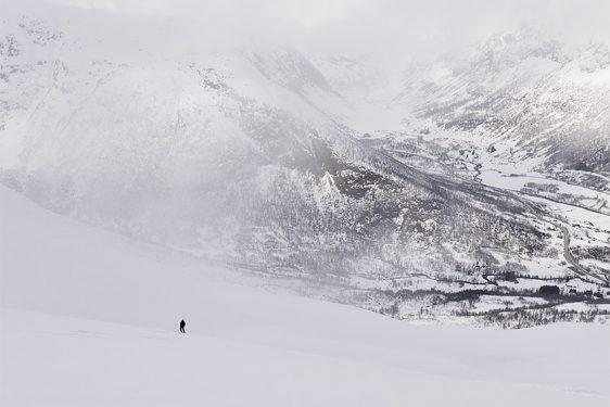 Blåfjellet, ner åt norr