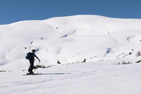 Blåfjellet, ner via Kambafjellet