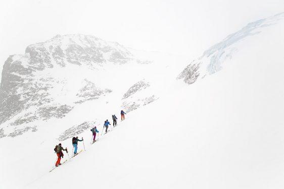 Norra Klippberget, ner öster om isfallet