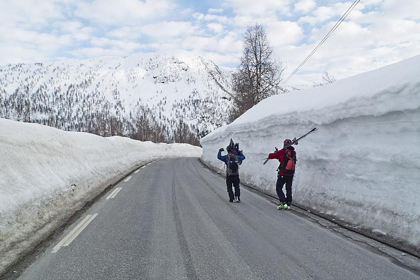Som vanligt mycket snö i Myrkdalen, trots att det är slutet av April.