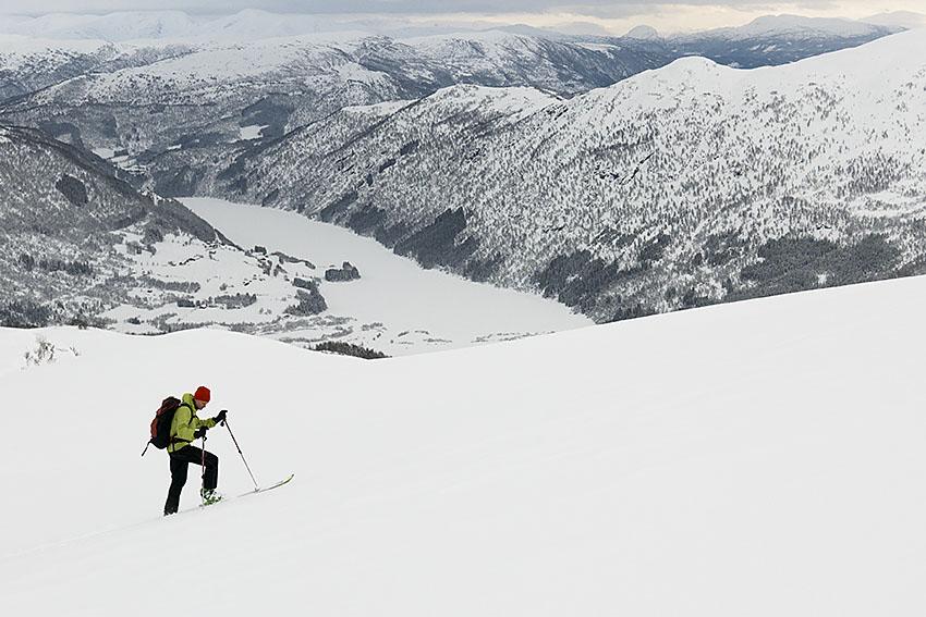 Myrkdalen – mest snö och nära till toppturerna.