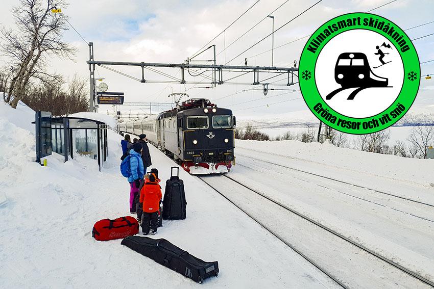 Klimatsmart skidåkning - gröna resor och vit snö
