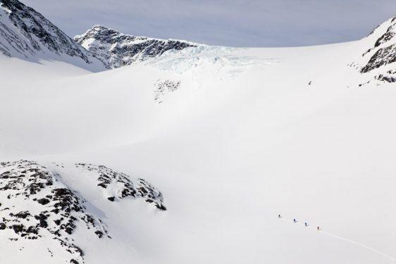 Halspasset via Isfallsglaciären