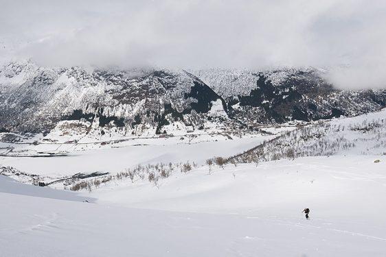 Svarteholten, ner åt norr