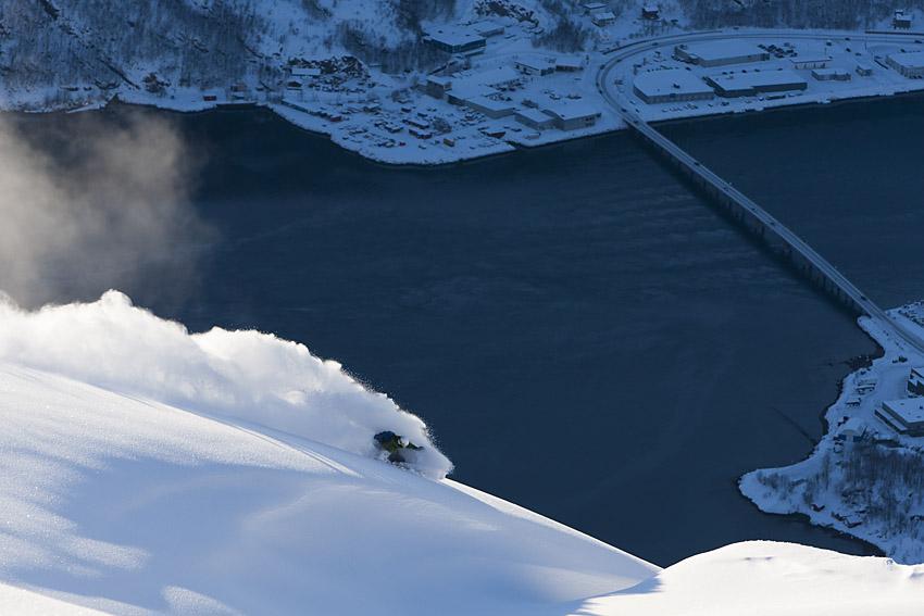 I Narvik är det nära till både fjord och fjäll.