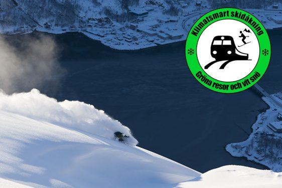 Längs Malmbanan – klimatsmart tågluff med skidorna i bagaget